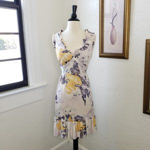 Betsey Johnson ~ Silk Watercolor Woman Dress ~ M